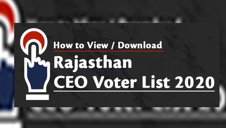 voter list rajasthan 2020 pdf download - sec.rajasthan.gov.in Panchayat Voter List