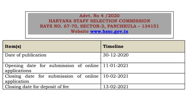 Haryana Police Constable Recruitment 2021 Advt 4/2020 Notification for 7298 Posts