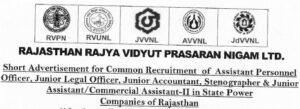 राजस्थान बिजली विभाग 2370 पदों पर भर्ती 2021 : rajasthan vidyut vibhag vacancy 2021 Latest Update 1